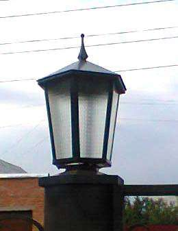 Навершие - лампа на ворота