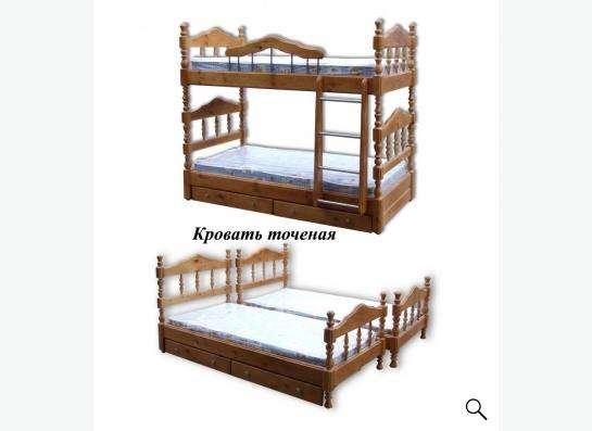 Кровати одно, двух, трехъярусные; комоды, шкафы из дерева в Ярославле фото 13