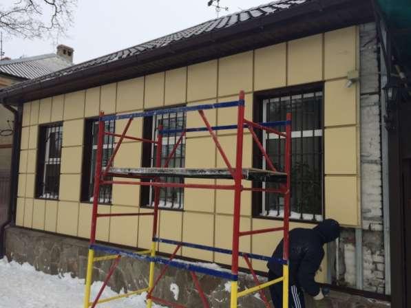 Ремонтные работы по реконструкции фасада.