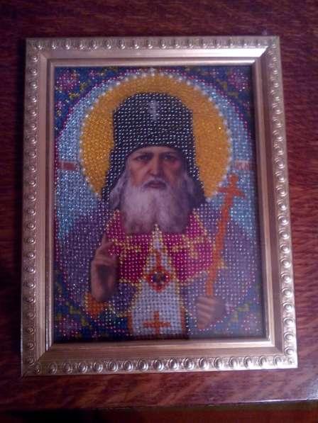 Образ Святителя Луки из бисера