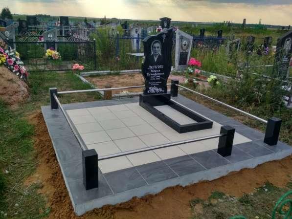 Благоустройство, укладка плитки на могилу Любань в фото 3