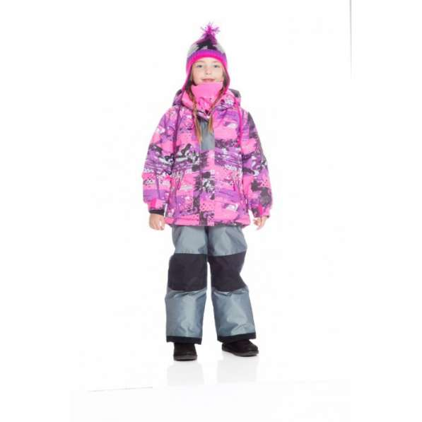 Deux par Deux Зимний костюм для девочки G 807 серый