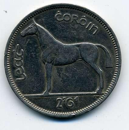 Ирландия 1/2 кроны 1959 г