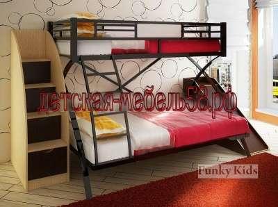Двухъярусная металлическая кровать 4