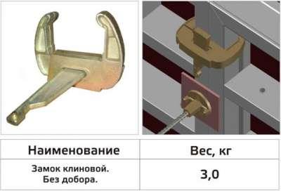 Замок клиновой Волга-Монолит