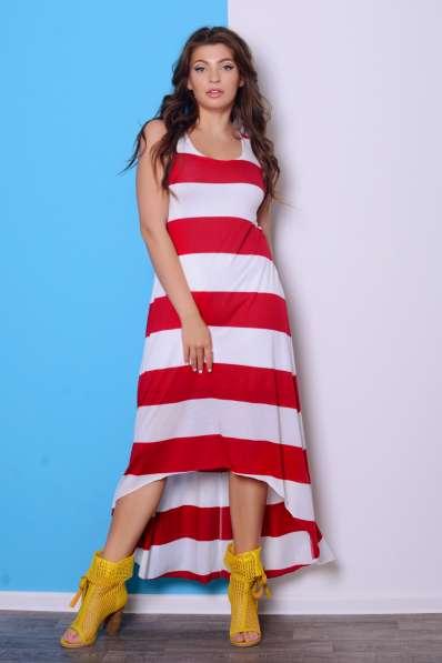 Платье в полоску ассиметричной длины