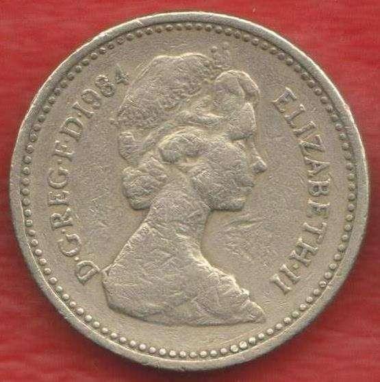 Великобритания Англия 1 фунт 1984 г. Репейник Шотландия в Орле
