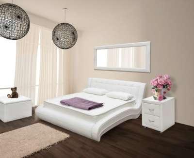 Шикарные кровати из экокожи