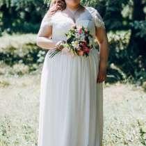 Свадебное платье с кружевным верхом и коротким рукавом, в Магнитогорске