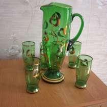 Графин и 6 стаканов из Чехословакии 80 годов, в Челябинске