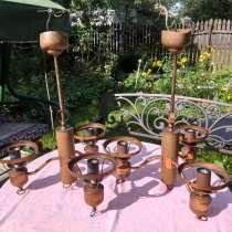 Продам две старинные люстры 60х годов с медным вставками, в Королёве