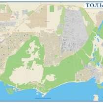 Тольятти. Карта настенная, в Тольятти