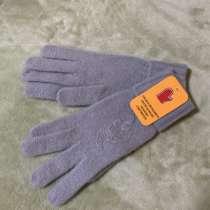 Элегантные светло-серые перчатки шерстяные женские, в г.Москва