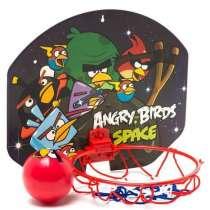 Баскетбольный щит с кольцом 35х30см с мячом Angry Birds, в Москве