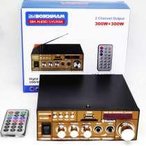 Усилитель BM AUDIO BM-606BT USB Блютуз 300W+300W 2х канальны, в г.Киев