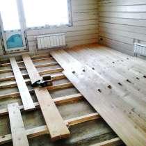 Настил половой доски, обшивка дачного дома вагонкой, в Красноярске