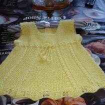 Летнее вязаное платье для девочки. Ручная работа., в Москве