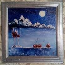 Картина Зимняя вишня (живопись, масло), в Москве