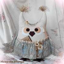 СОВА- авторская подушка-игрушка с карманом, в Санкт-Петербурге