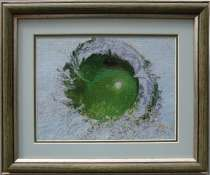 Картина «Сочное яблоко»,ручная работа, вышивка, в г.Минск