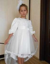 Платье белое, праздничное, нарядное, со шлейфом, в г.Днепропетровск