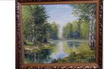 Картина пейзаж на озере, в Нижнем Новгороде