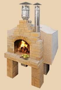 Стационарная дровяная печь, в Краснодаре