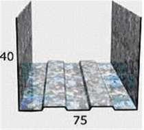 Профиль Албес ПН 75х40, 0,55мм, 3-хметровый, в Химках
