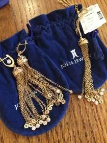 Комплект серёжки, подвеска серебро/позолота. Автор. работа, в Йошкар-Оле