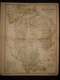 Карта Могилевской губернии. 1896, в г.Октябрьский