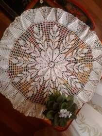 Салфетка белая ажурная, вязаная крючком, в Старом Осколе