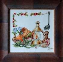 Картина «Деревенский натюрморт»,ручная работа, вышивка, в г.Минск