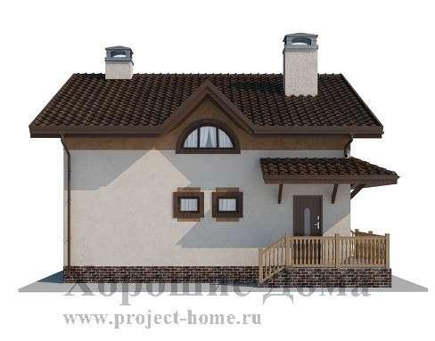 Строительство дома из газобетона 7.8x8.4 97.3 кв. м в Москве Фото 1
