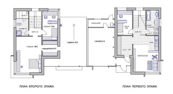 Четырёх комнатный блокированный жилой дом на две семьи