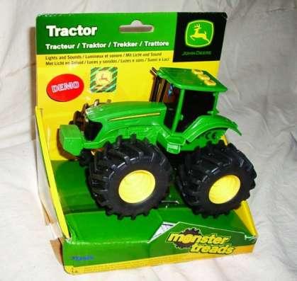 Трактор электронный пластиковый с большими колесами, новый