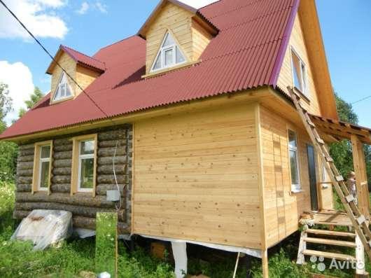Продам новый дом из бревна и бруса 90 м2 участок 6 соток