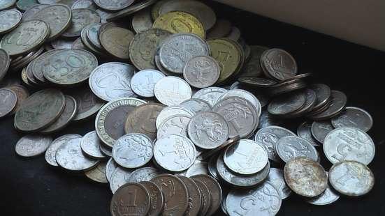 Монеты мелочь Россия 1990 годов.