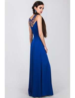 Длинное синее вечернее платье в Москве Фото 3