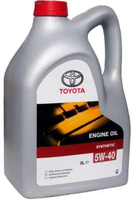 Масло TOYOTA ENGINE OIL 5W40 синтетическое 5 литров
