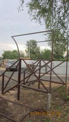 Крыльцо цельно металлическое с козырьком в г. Вологда Фото 3
