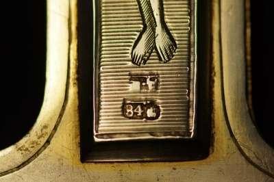 Крест напрестольный серебряный. 1884 год мастерская Шелапутина Дми в Санкт-Петербурге Фото 1