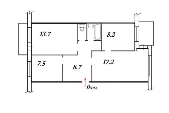 Продам 3х комнатную на ул. Сергея Лазо в Красноярске Фото 4