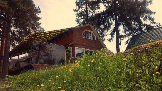Клифф-Хаус 300м с террасой над рекой+2гостевых дома+баня на