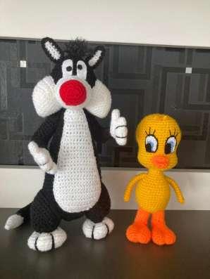 Gehäkelte Tweety und Sylvester. Set. Neu. Handarbeit