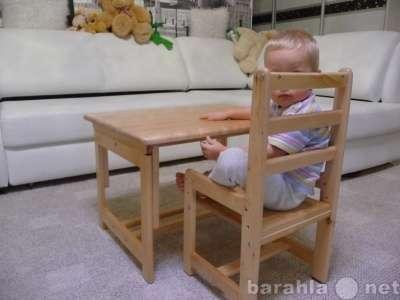 Стол-парта и стульчик из дерева