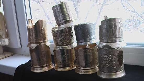 Подстаканники СССР алюминиевые
