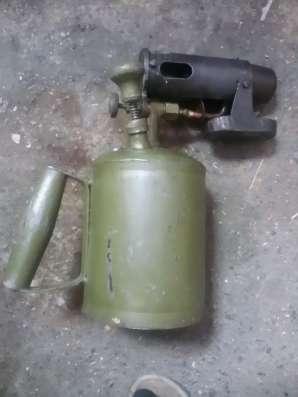 Паяльная лампа СССР 1 литр (чугунное сопло)