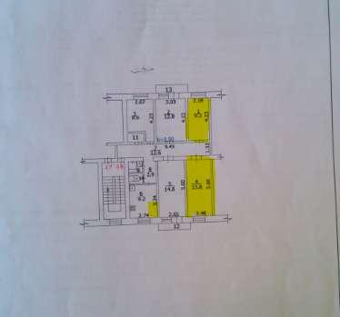 Продаются в центре г. Истра 2 комнаты 10 кв. м. 13,8 кв. м