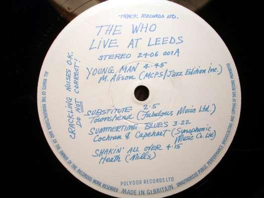 Пластинка The Who – Live At Leeds (UK) в Санкт-Петербурге Фото 1