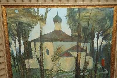 Картина «Псковский храм». СССР, 1950-е г